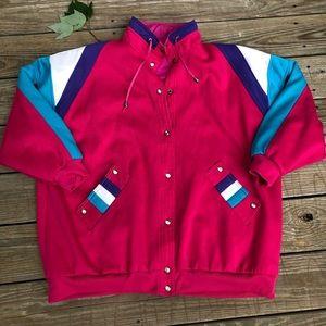 Vintage Retro Colored Pink Jacket Men's Large